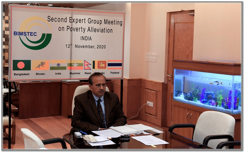 Second BIMSTEC Expert Group Meeting on Poverty Alleviation (virtual) on 12 November, 2020.