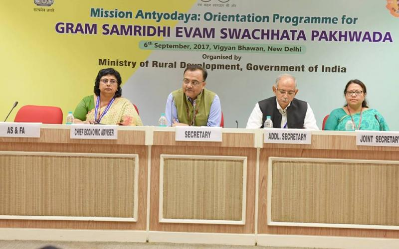 Mission Antyodaya Orientation Programme for Gram Samriddhi Evam Swachhata Pakhwada, on 6th September ,2017