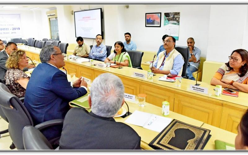 Meeting of 13-members delegation led by Mr. Taoufik Rajhi, Minister of Grand Reforms (Prime Minister Office), Government of Tunisia with Secretary Rural Development, Shri Amarjeet Sinha on 9th September, 2019 at Ministry of Rural Development, Government of India.
