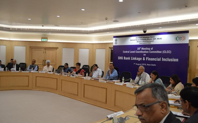 20th Meeting of Central Level Coordination Committee(CLCC) on SHG Bank Linkage & Financial Inclusion on 7th August, 2019, New Delhi.