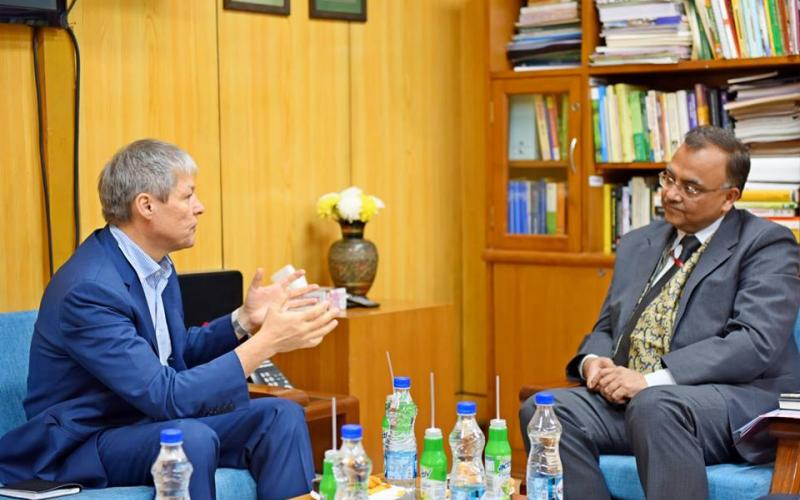Meeting of Mr. Dacian Julien Ciolos Former-PM, #Romania with Secretary Rural Development, Shri Amarjeet Sinha Ji on 4th December, 2018