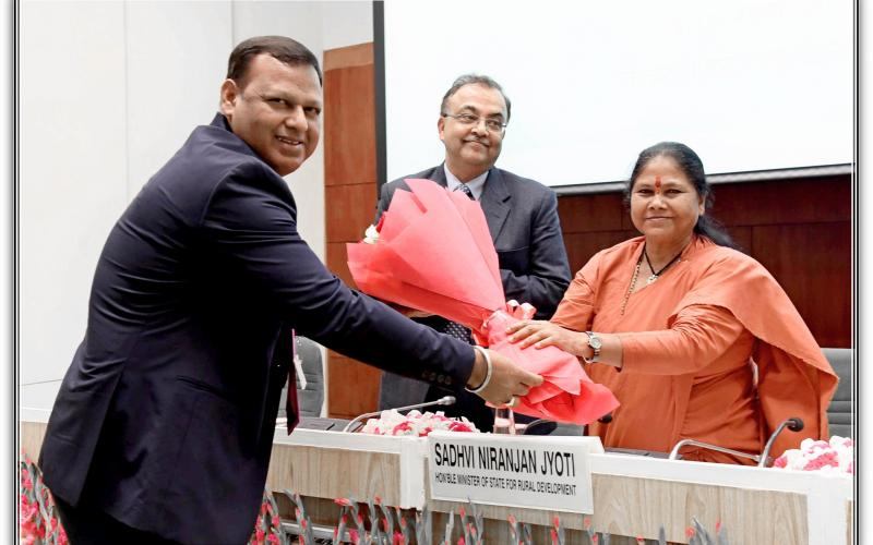 "Hon'ble Minister of State for Rural Development, Sadhvi Niranjan Jyoti inaugurated ""National Seminar on Social Audit of Rural Development Programmes"" on 13th November, 2019."