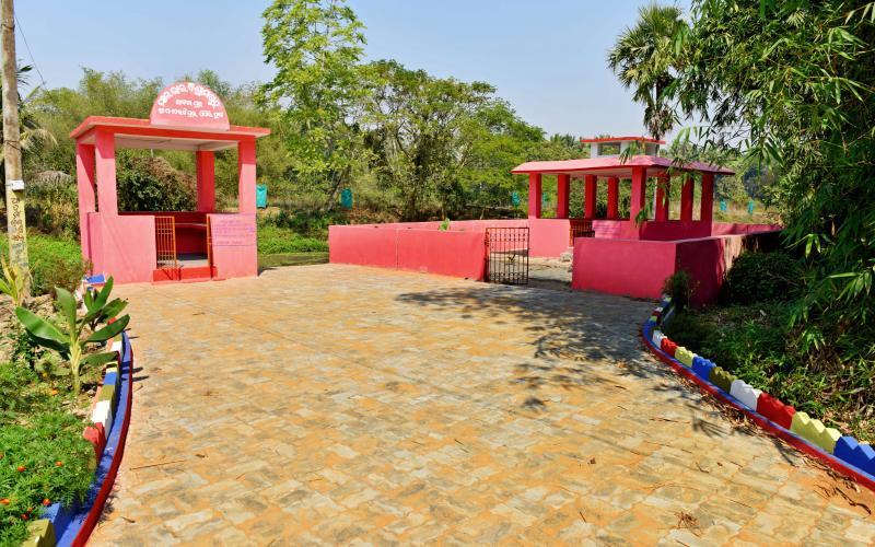 Creamation Ground-(MGNREGA-2017-18),  Vill-Abalpur, Block-Pipili, Dist-Puri Odisha