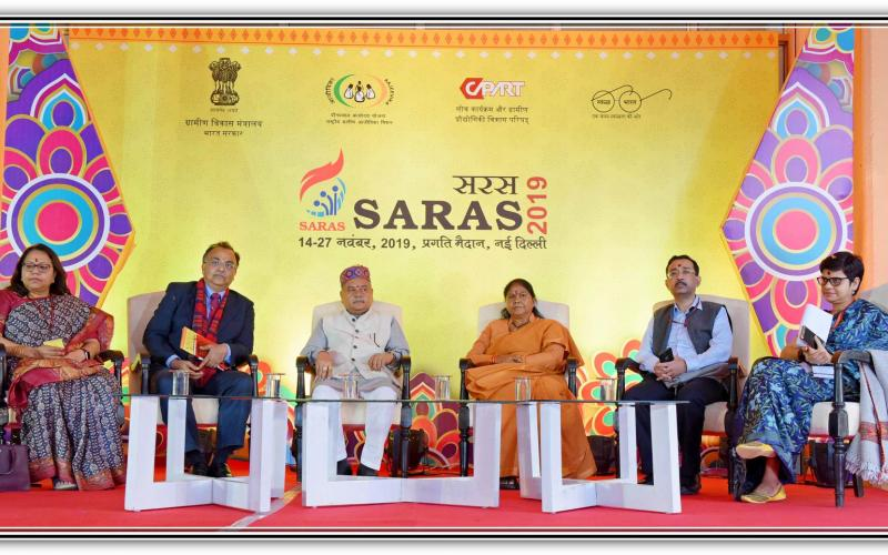 #InaugrationCeremony of #SarasIITF2019 by Hon'ble Minister of Agriculture & Farmers Welfare, Rural Development & Panchayati Raj, Shri Narendra Singh Tomar Ji inaugurated the mela at Pragati Maidan, Hall No.7, New Delhi.