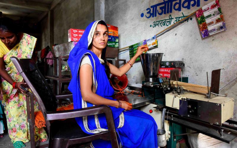 Agarbatti making(ajeevika Mission)- NRLM-  Vill-Delmi, Block.- Dhar,Distt.-Dhar ,Madhya Pradesh