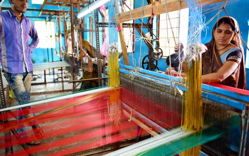 Saree making(Ajeevika Mission)-NRLM-2010-11  Vill-Saitaya, Block.- Kasrawad,Distt.-Khargone ,Madhya Pradesh