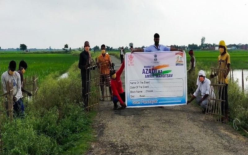Mahatma Gandhi NREGA Plantation Drive in Gram Panchayat, 19th July – 1st August, 2021