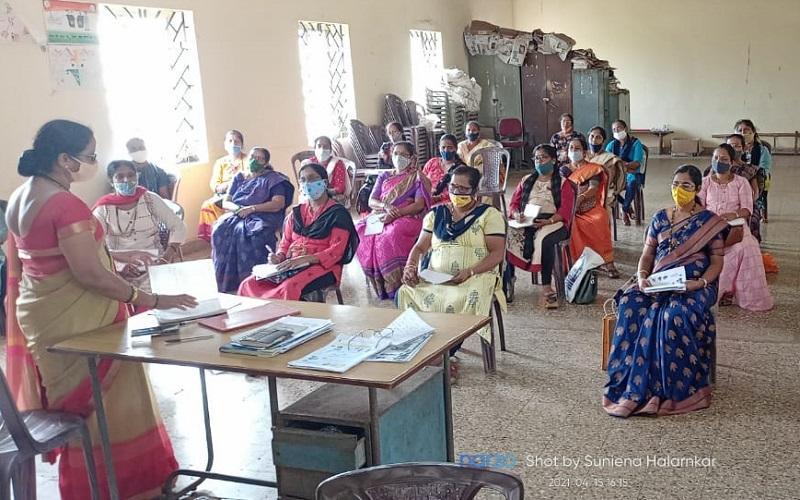 Goa Bicholim Block COVID training