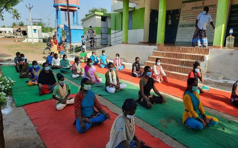 International Yoga Day Tamil Nadu