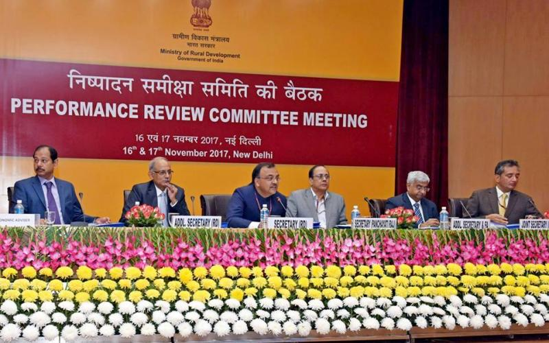 Performance Review Committee Meeting under the Chairmanship of The Secretary Rural Development, Shri Amarjeet Sinha on 16th November, 2017